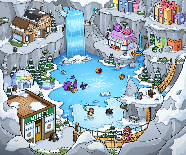 Snowslide Mountains Map